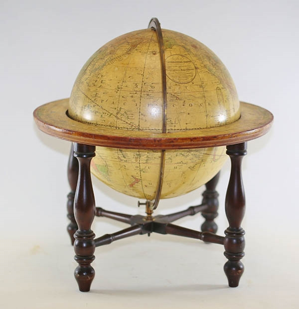 An early 19th Century American terrestrial globe