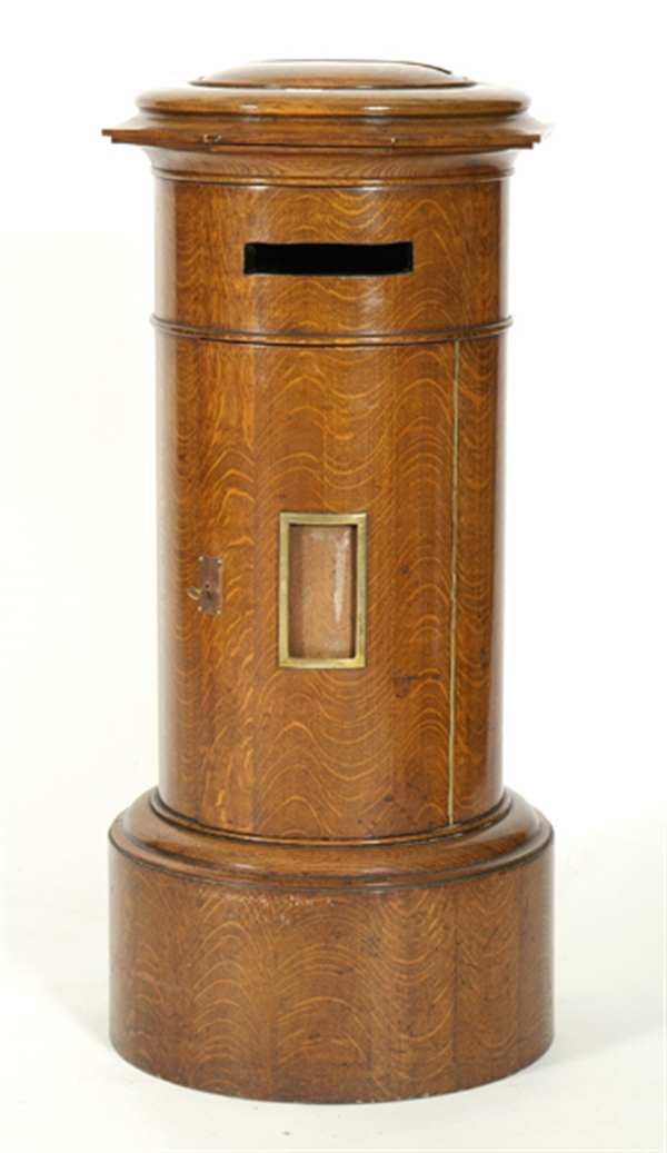 A late 19th Century oak country house hall post box